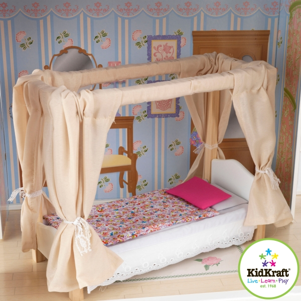 Как сделать кровать для кукольного домика 58