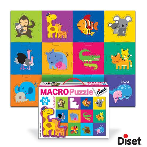 Diset - Macro Puzzle - Puii Animalelor