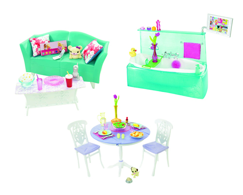 Barbie - Barbie Mobilier Asortat (Sufragerie si Baie)