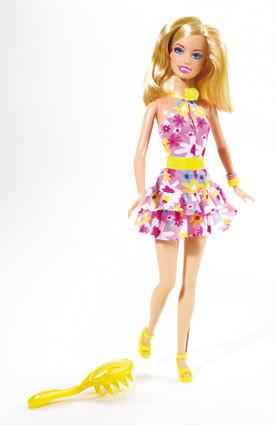 Barbie - Barbie Papusa Rochita cu Flori