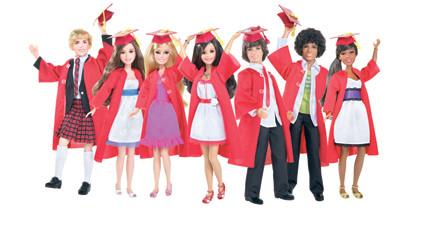 Disney Princess - High School Musical papusi absolventi cu haine de bal