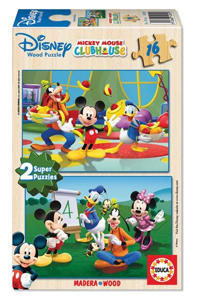 Educa - Puzzle 16 Piese cu Mickey Mouse