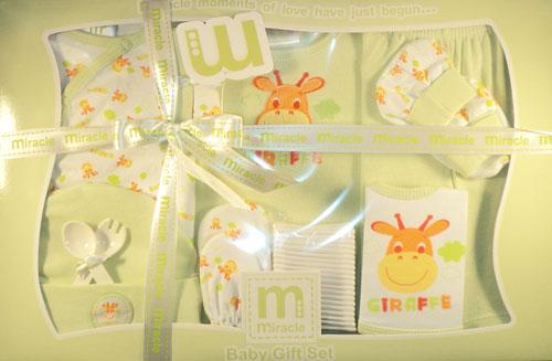 Wonder Child - Set cadou 12 piese Giraffe green