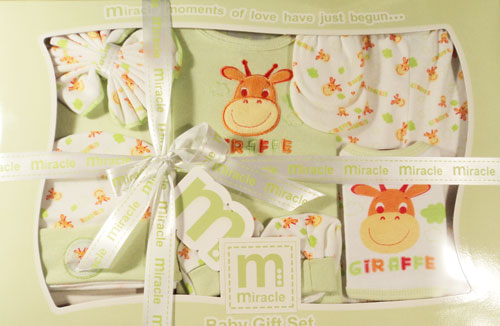 Wonder Child - Set cadou 8 piese Giraffe green
