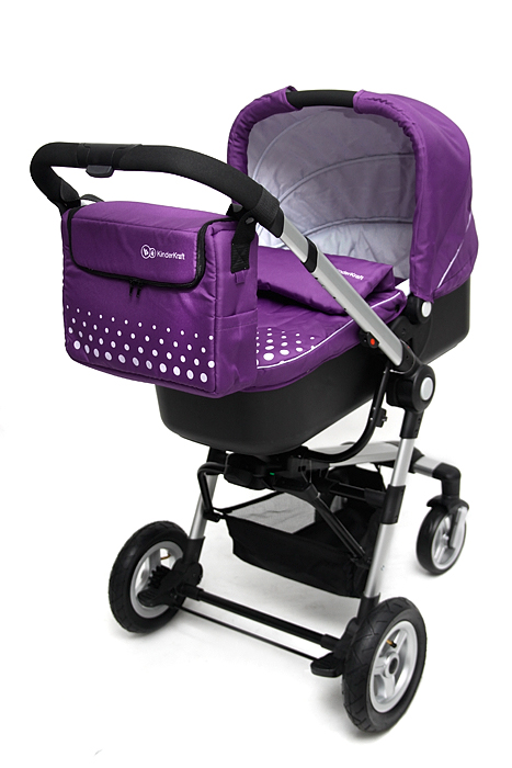 KinderKraft - Carucior 3 in 1 Kraft Purple