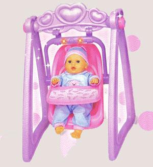 Sweet Baby - Balansoar muzical 2 in 1 cu papusa