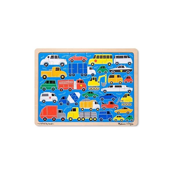 Melissa & Doug - Puzzle 24 piese Beep-Beep