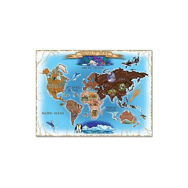 Melissa & Doug - Puzzle harta lumii 500 piese / World Map