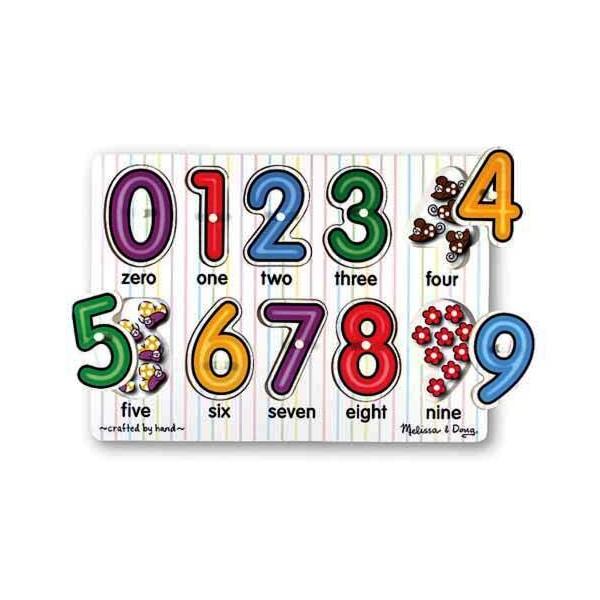 Melissa & Doug - Puzzle lemn Cifrele