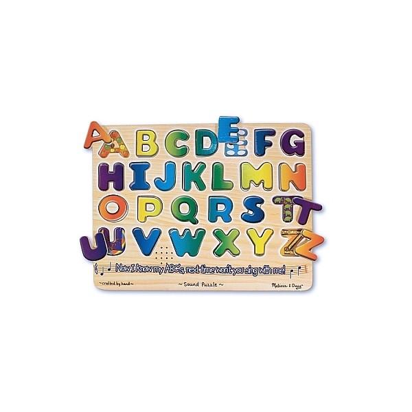 Melissa & Doug - Puzzle lemn cu sunete Alfabet