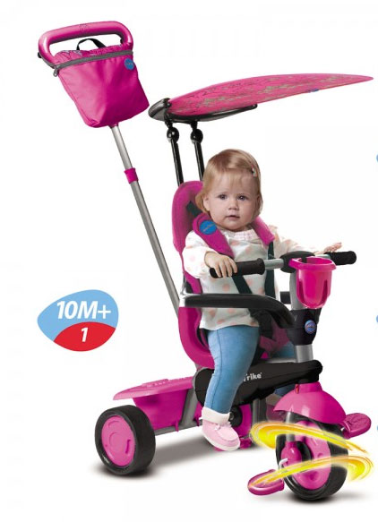 Smart Trike - Tricicleta Spirit 4 in 1 Butterfly - Touch Steering