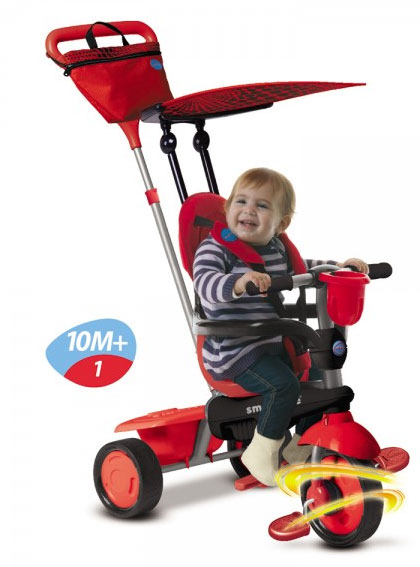Smart Trike - Tricicleta Spirit 4 in 1 LadyBug - Touch Steering