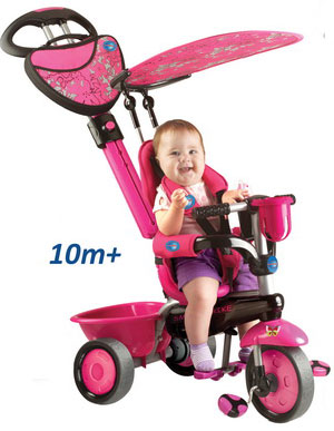 Smart Trike - Tricicleta Smart Trike 3 in 1 Zoo Butterfly