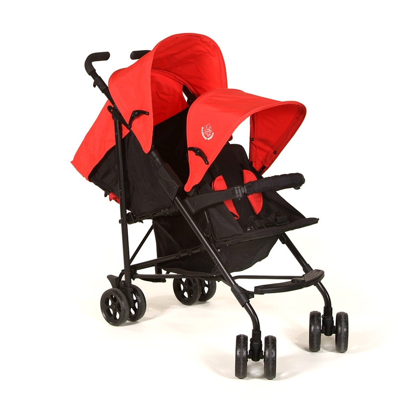 Bright Starts - Carucior tandem Buggy Red/ Blue