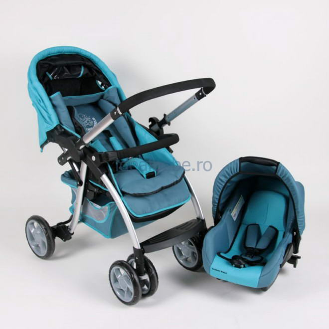 Bambino World - Drive & Walk combi system ALU BLUE + Scoica